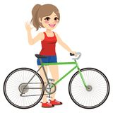 Girl With Bike Royalty Free Stock Photos