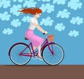 Girl on bike Royalty Free Stock Photos