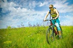 Girl biking Royalty Free Stock Images