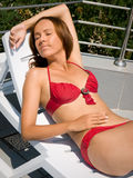 Girl in bikini Royalty Free Stock Images