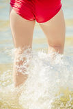 Girl bikini back Royalty Free Stock Photography