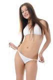 The girl in bikini Stock Images