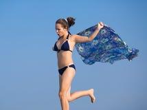 Girl in bikini on open air Stock Photo