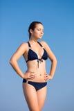 Girl in bikini outdoors Stock Photos