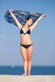 Girl in bikini at the sea Stock Photo