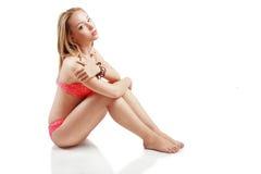 Girl in a bikini Stock Image