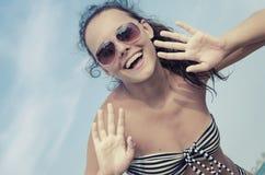 Girl in bikini smiling Stock Photos