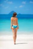 Girl in bikini on the tropical beach Stock Photo