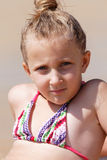 Girl in a bikini on vacation Stock Photography