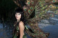 Girl bird in the Green swamp Royalty Free Stock Photos