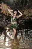 Girl bird in the Green swamp Stock Photos