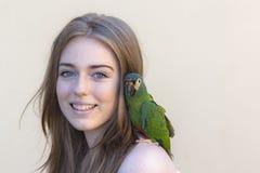 Girl Bird Portrait Royalty Free Stock Image