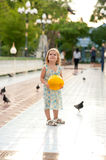 Girl and birds Royalty Free Stock Photos