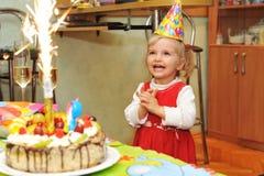 Girl  birthday Stock Image