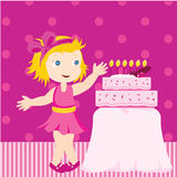 Girl with birthday cake Stock Photos