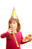Girl at birthday party royalty free stock image