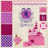 Girl Birthday Set公主的 免版税库存图片