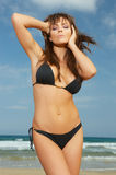 Girl in Black Bikini Royalty Free Stock Image