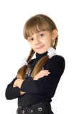 The girl in a black blouse Stock Photos