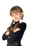 The girl in a black blouse Stock Photos