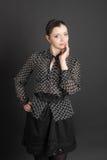 Girl in a black blouse Stock Photos