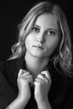 Girl in black blouse Stock Photos