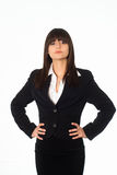 Girl in a black business suit Stock Photo