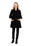 Girl in a black coat Royalty Free Stock Photo