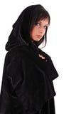 Girl in a black coat. Stock Photo