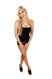 Girl in black corset. Stock Image