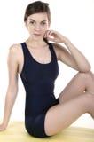 Girl in black costume Royalty Free Stock Photo