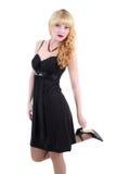 Girl in black dress Royalty Free Stock Photo