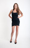 Girl in a black dress Royalty Free Stock Photography