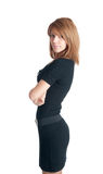 Girl in a black dress Royalty Free Stock Images