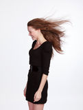 Girl in black dress Royalty Free Stock Images