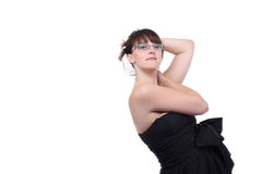 Girl in black dress Royalty Free Stock Photography