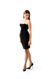 The girl in an black dress Stock Images