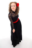 Girl in a black dress Stock Photo