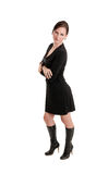 Girl in black dress Stock Photography