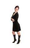 Girl in black dress Stock Photography