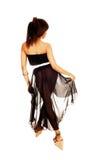 Girl in black dress. Stock Photo