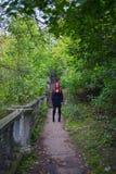Girl in black dress Stock Photo
