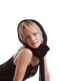 Girl in black Stock Photo