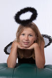 Girl with black halo Stock Image
