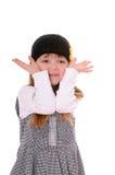 Girl in a black hat Stock Image
