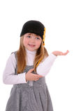 Girl in a black hat Stock Image
