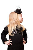 Girl in a black hat Stock Photos