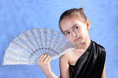 The girl in a black kimono Royalty Free Stock Photography