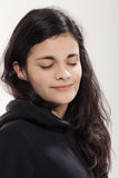 Girl with a black sweatshirt Royalty Free Stock Photo
