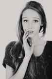 Girl black and white photo Stock Photos
